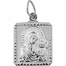 Серебряная ладанка Образ Богоматери