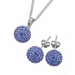 Ювелирный набор Фортуна с голубыми кристаллами Сваровски