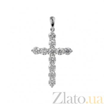 Золотой крест с бриллиантами Светлая душа 000026768