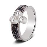 Серебряное кольцо Трио с чернением