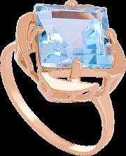 Кольцо из красного золота с топазом Веста
