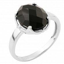 Серебряное кольцо Оделис с черным ониксом