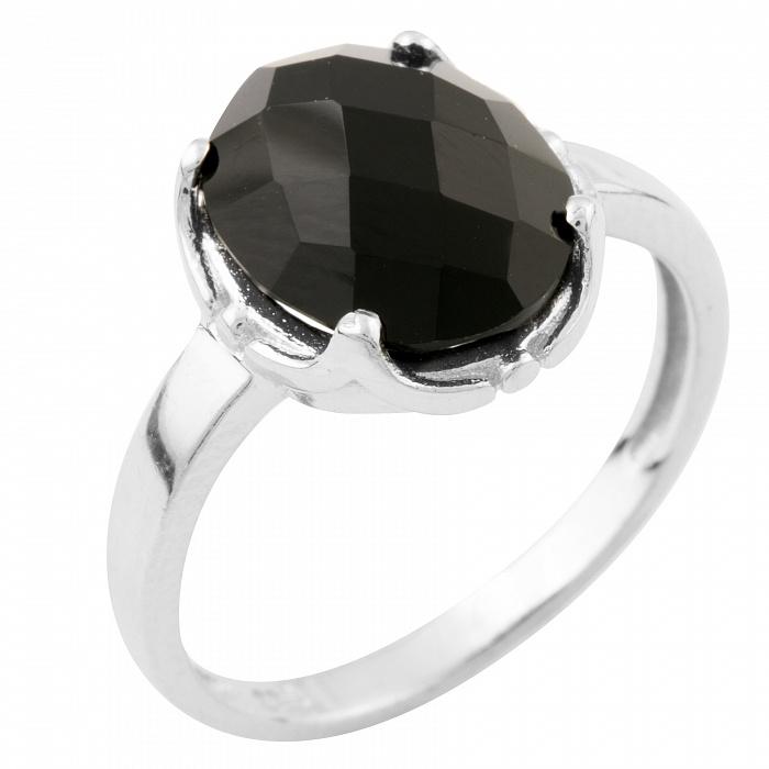 Серебряное кольцо Оделис с черным ониксом 000074042