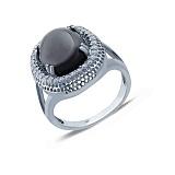Серебряное кольцо с ониксом Покров ночи