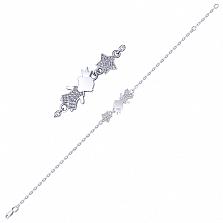 Серебряный браслет Маленький принц с белыми фианитами р.16-18