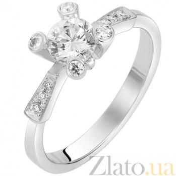 Кольцо в белом золоте Промис с бриллиантами 000079268