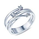 Серебряное кольцо с цирконием Ирена