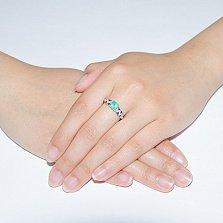 Серебряное кольцо с зеленым агатом Оттепель