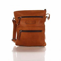 Кожаная мужская сумка HILL BURRY 1882 коричневого цвета с дополнительными карманами на молнии