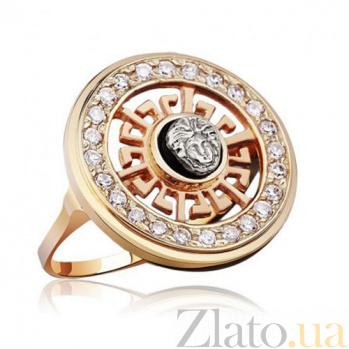 Золотое кольцо с цирконием Версаче EDM--КД0364