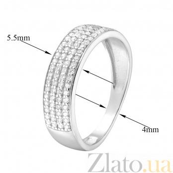 Золотое кольцо Звездное небо в белом цвете с белыми фианитами 000044767