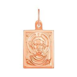 Ладанка Спаситель в красном золоте