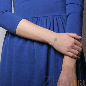 Серебряный браслет с фианитами Ромео 000027081