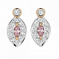 Серьги Argile с бриллиантами и розовыми сапфирами E-cjAr-W/R-2s-22d