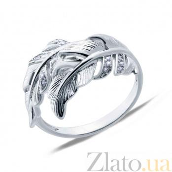 Серебряное кольцо Воздушное перо AQA--MT-4170-Rsl