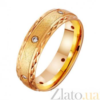 Золотое обручальное кольцо Фейерверк эмоций с фианитами TRF--412981