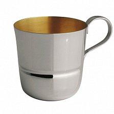 Детская серебряная чашка Korpus с внутренней позолотой, 90мл