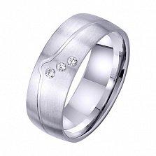 Обручальное кольцо Элегант с цирконием