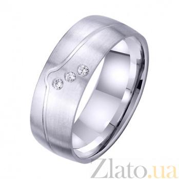 Обручальное кольцо Элегант с цирконием TRF--4221707
