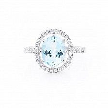 Серебряное кольцо Соломия с топазом и фианитами