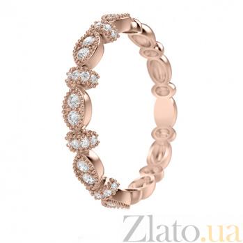 Обручальное кольцо из розового золота с бриллиантами Очарование  647