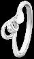 Серебряное кольцо с цирконием Виталия 000025825