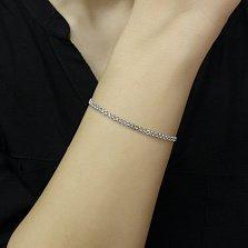 Серебряный браслет Карла двойного якорного плетения, 3мм