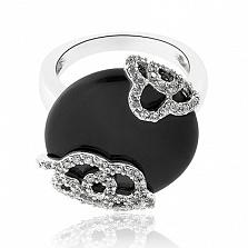 Кольцо из серебра с ониксом Объятия Тесея