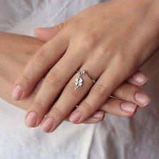 Серебряное кольцо Подружка Удача с подвеской в форме клевера