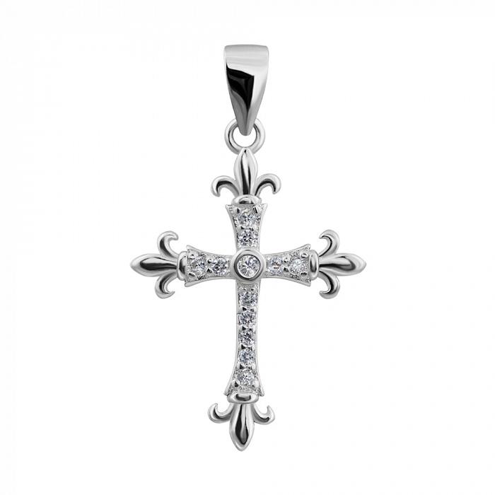 Серебряный декоративный крестик 000132525 000132525