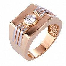 Золотое кольцо с фианитами Мардж
