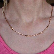 Золотая цепочка c алмазной гранью Моник, 3мм