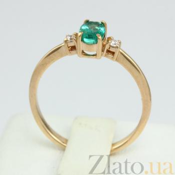 Золотое кольцо с изумрудом и бриллиантами Дэрин VLN--122-1536-15
