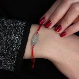Шелковый браслет со вставкой Sofia