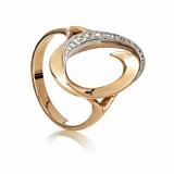 Золотое кольцо с цирконием Бетани