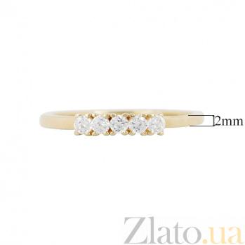 Золотое кольцо с фианитами Светлый путь 000026595