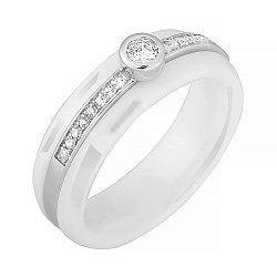 Керамическое кольцо с фианитами Эклектика 000025680
