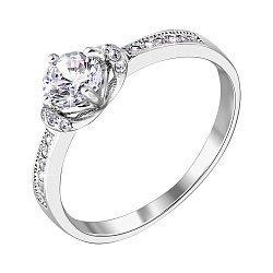 Серебряное кольцо с цирконием 000122619