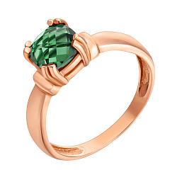 Кольцо в красном золоте София с синтезированным турмалином