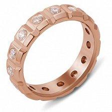 Обручальное кольцо из красного золота с бриллиантами Сила любви