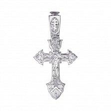 Серебряный православный крестик Царь Славы