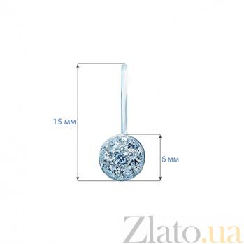 Серебряные серьги с фианитами Мерцание звезд AQA--Щ-703733