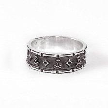 Кольцо из серебра Jolly Roger с чернением