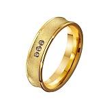 Золотое обручальное кольцо На века с фианитами