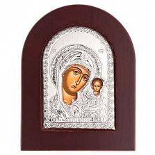Икона Казанской Богоматери серебро