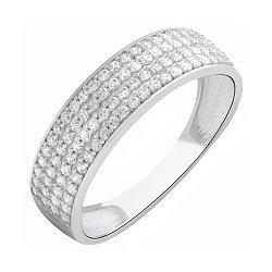 Золотое кольцо Звездное небо в белом цвете с фианитами 000044767