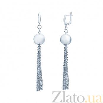 Серебряные сережки Линара AQA--Тс-470128