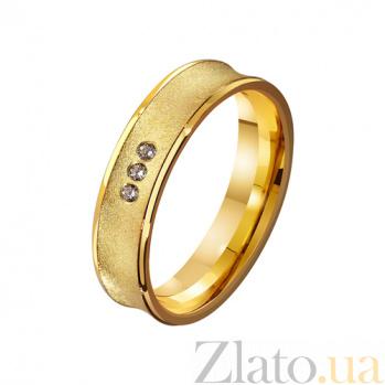 Золотое обручальное кольцо На века с фианитами TRF--4121667