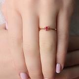 Золотое кольцо Паола с рубином