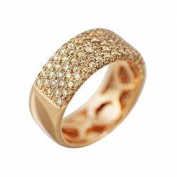Кольцо из красного золота Саммер с бриллиантами цвета шампань